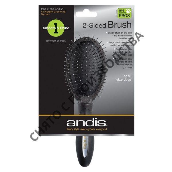 Щетка двусторонняя Andis Premium Sided Pin Brush